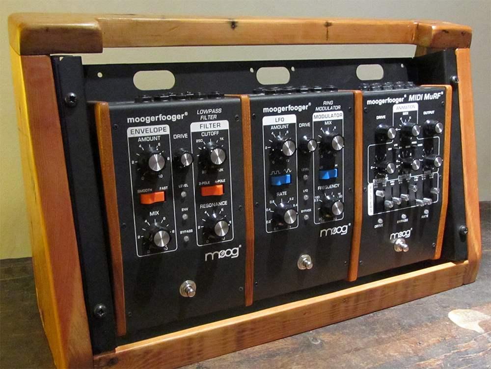 reclaimed wood moogerfooger rack unit
