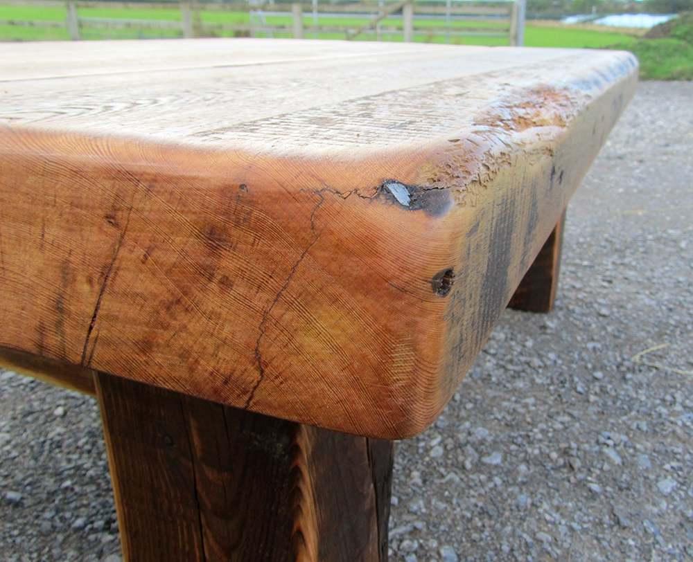 Warehouse joist reclaimed wood coffee table