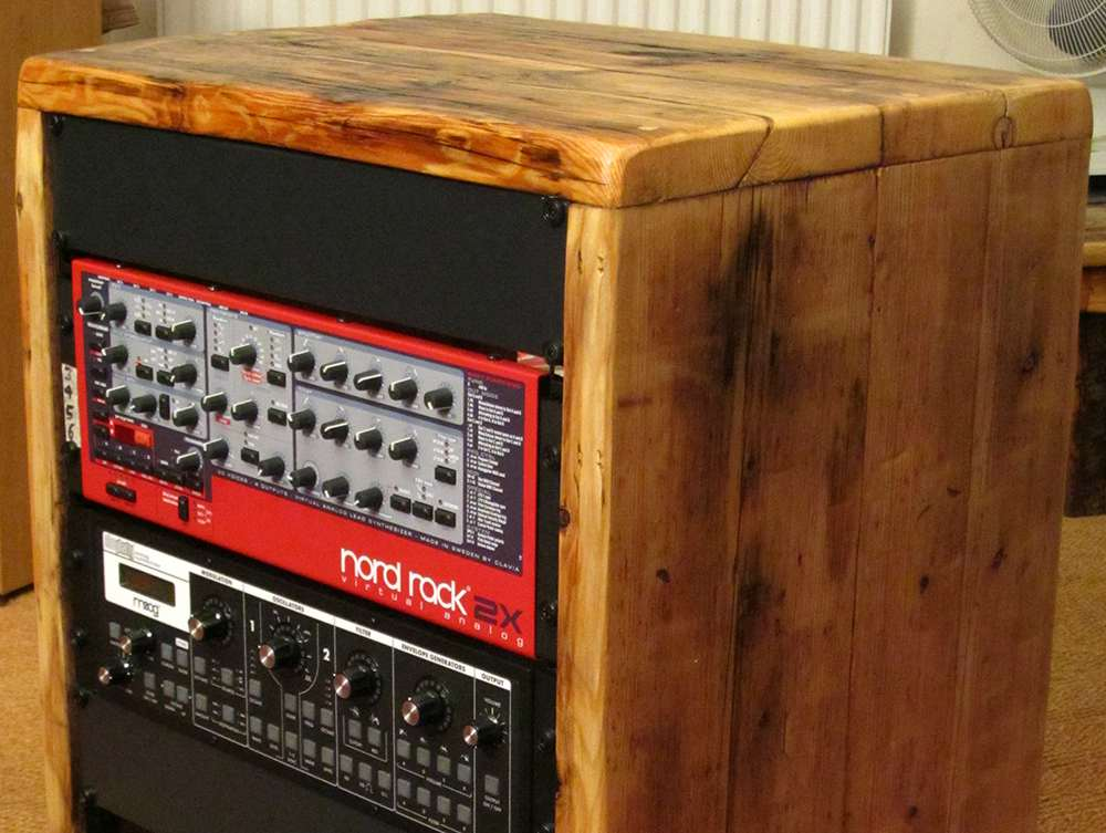 16u rack cabinet 19 inch reclaimed wood