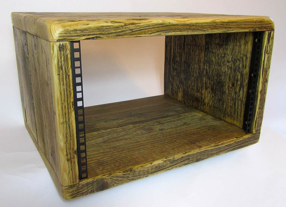 "6u reclaimed wood 19"" rack units"