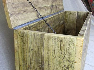 Storage chests reclaimed wood