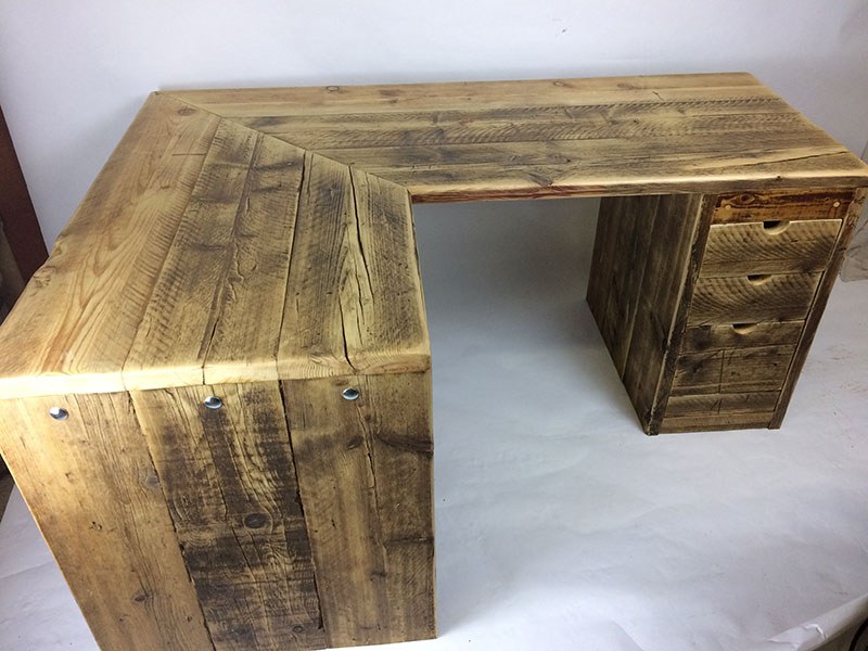 Desk made from reclaimed wood
