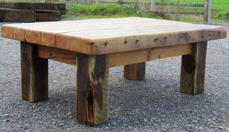 Warehouse joist chunky coffee table