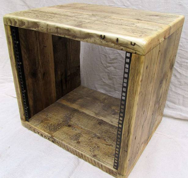10u 19 inch reclaimed wood studio rack