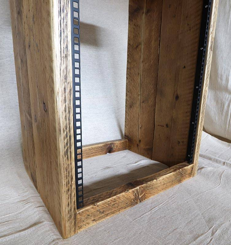 16u 19 inch rack cabinet made from reclaimed wood