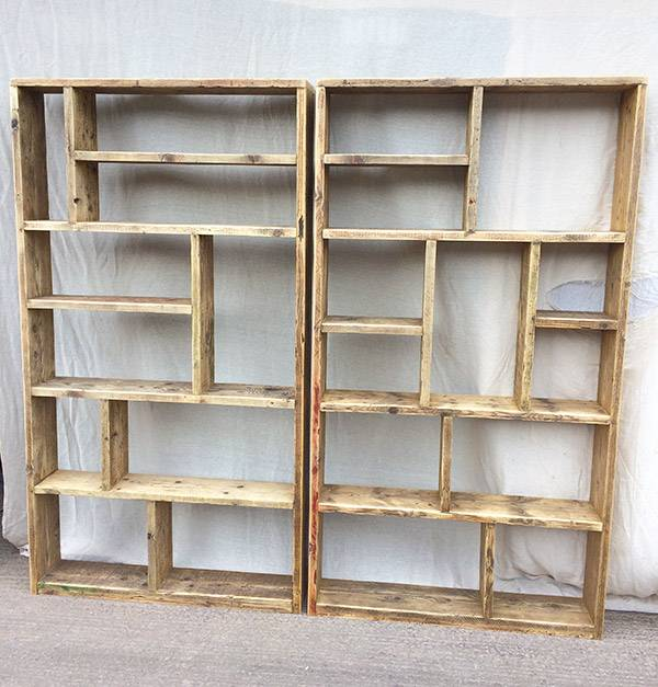 Bespoke shelving made from reclaimed wood