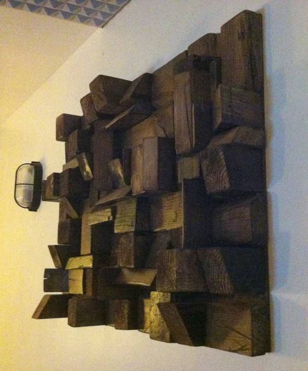 reclaimed wood sound diffuser