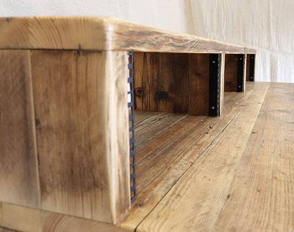 Studio desk made from reclaimed wood