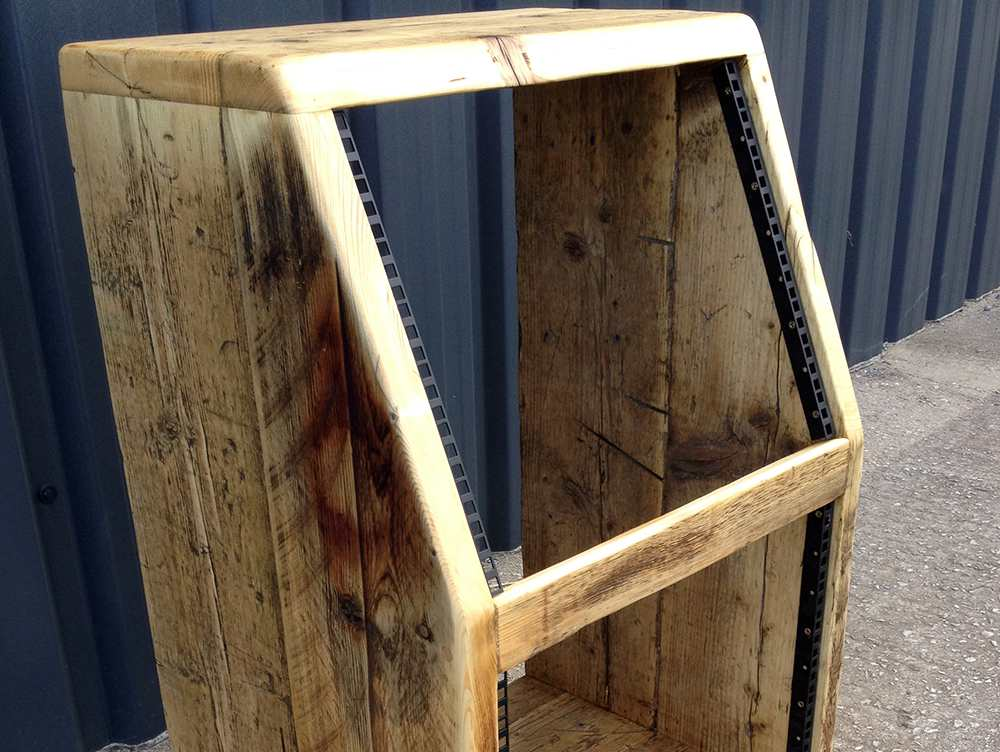 reclaimed wood 19 inch rack cabinet