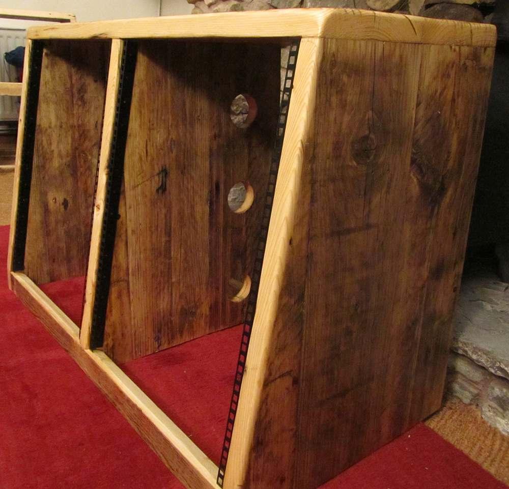 Double width 12u angled rack unit