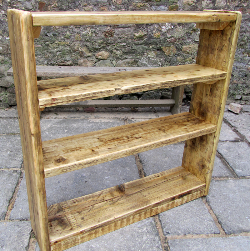 Reclaimed wood bookcase - square