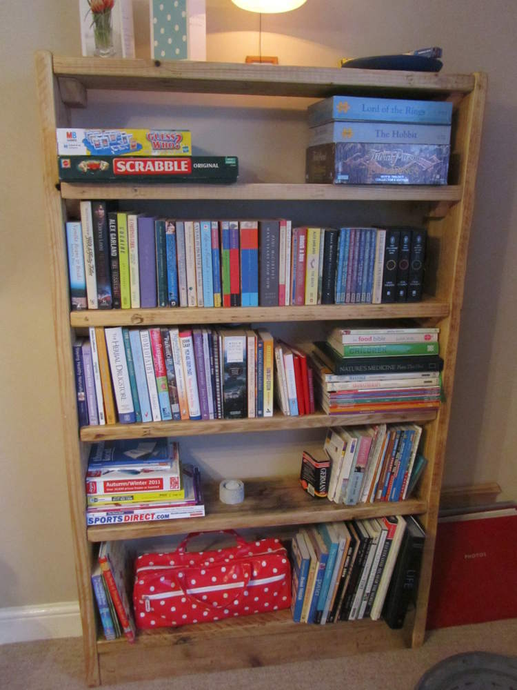 Reclaimed wood bookcase - tall