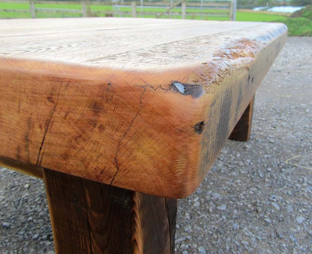 Warehouse joist coffee table