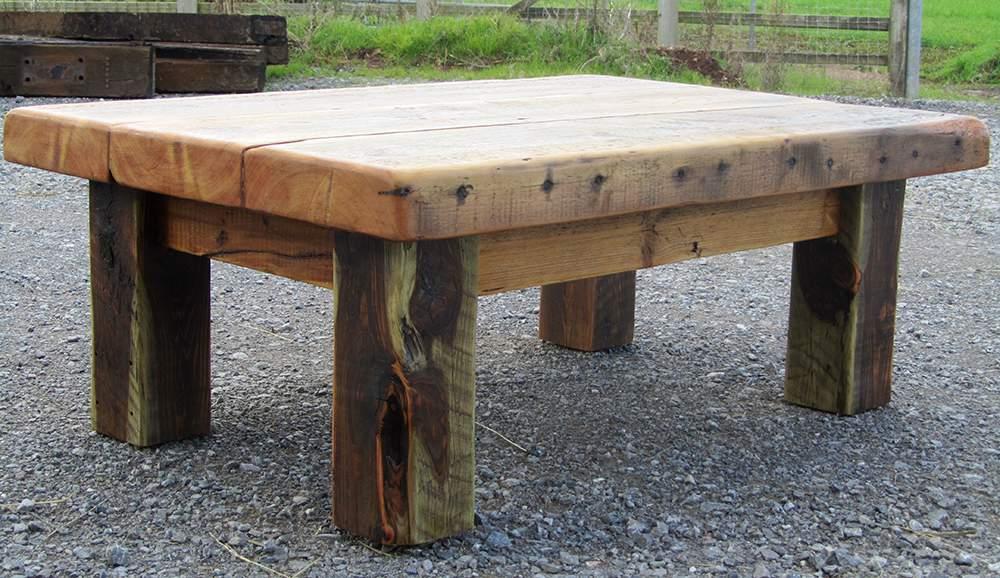 Warehouse joist chunky coffee table