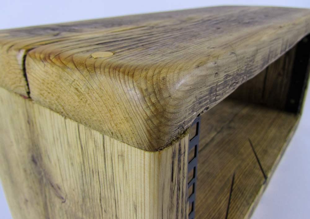 reclaimed wood 4u rack pod
