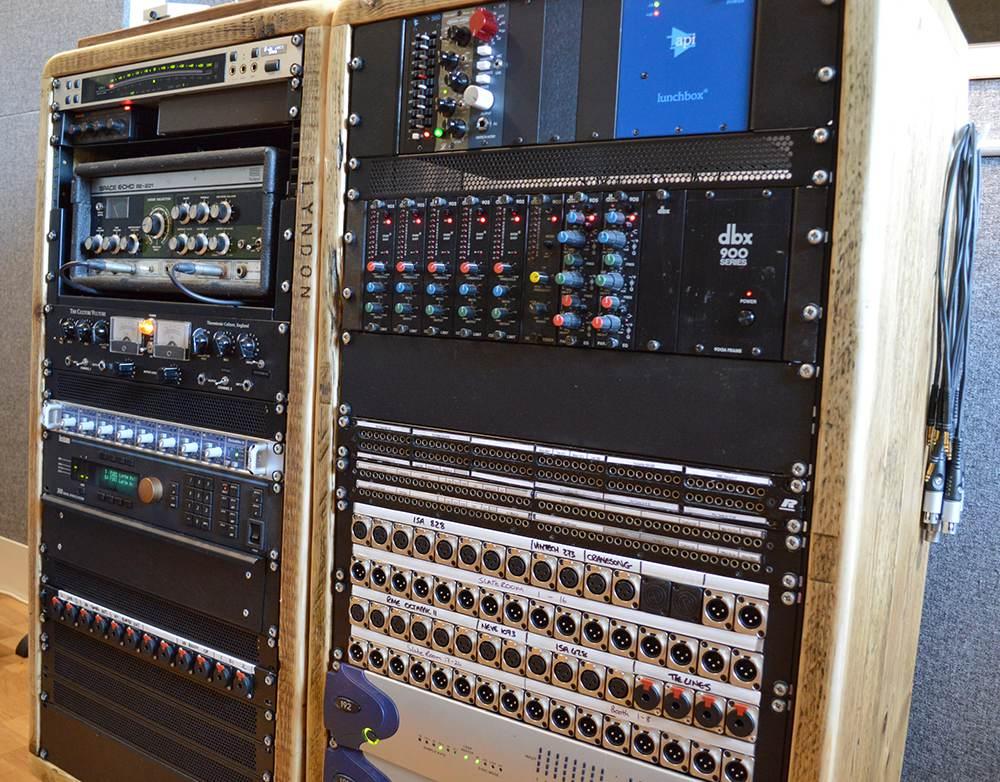 reclaimed wood studio rack cabinets