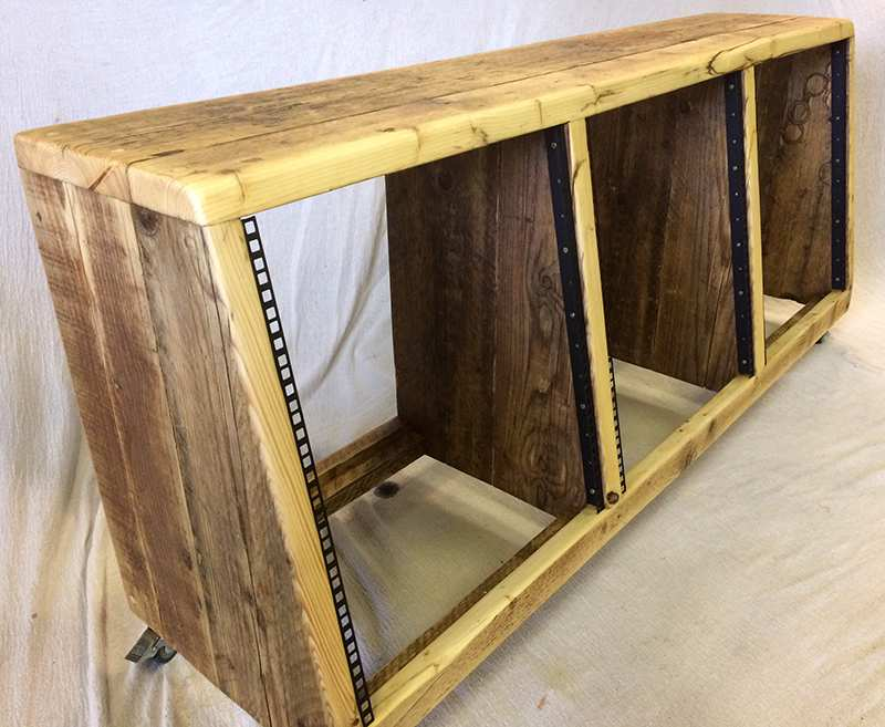 Triple width angled rack units