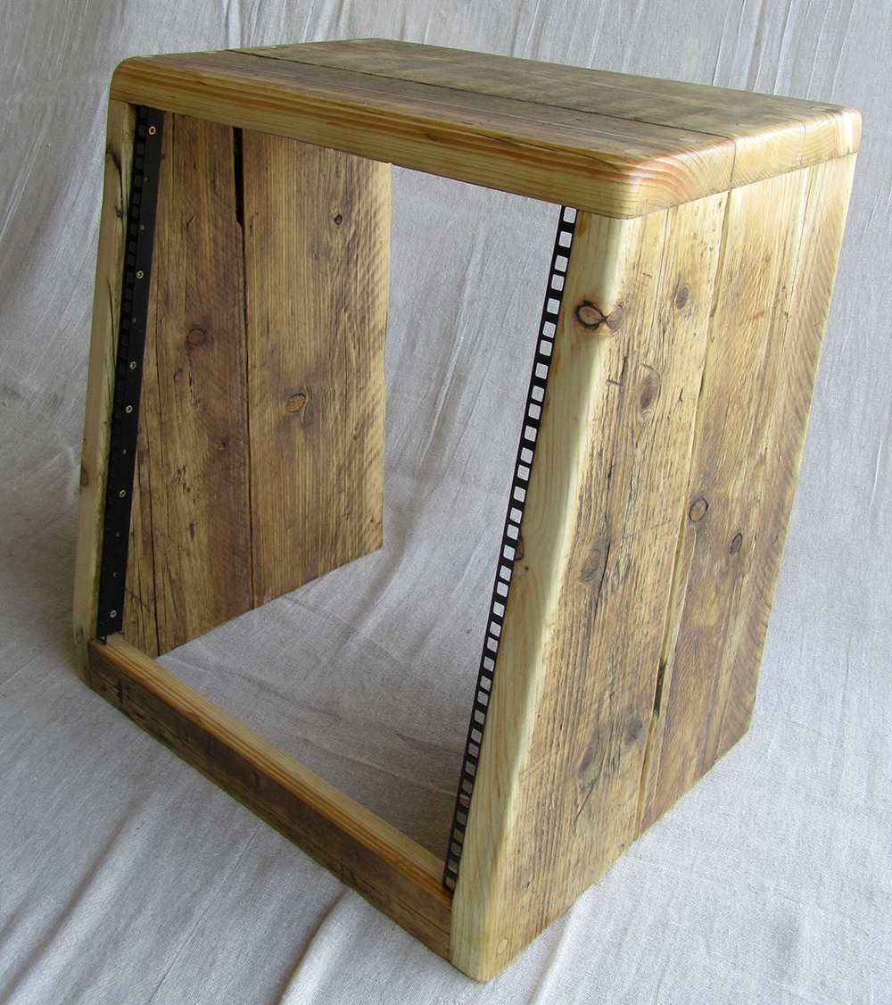 Wooden Studio Furniture ~ Angled rack units chunky studio furniture handmade in