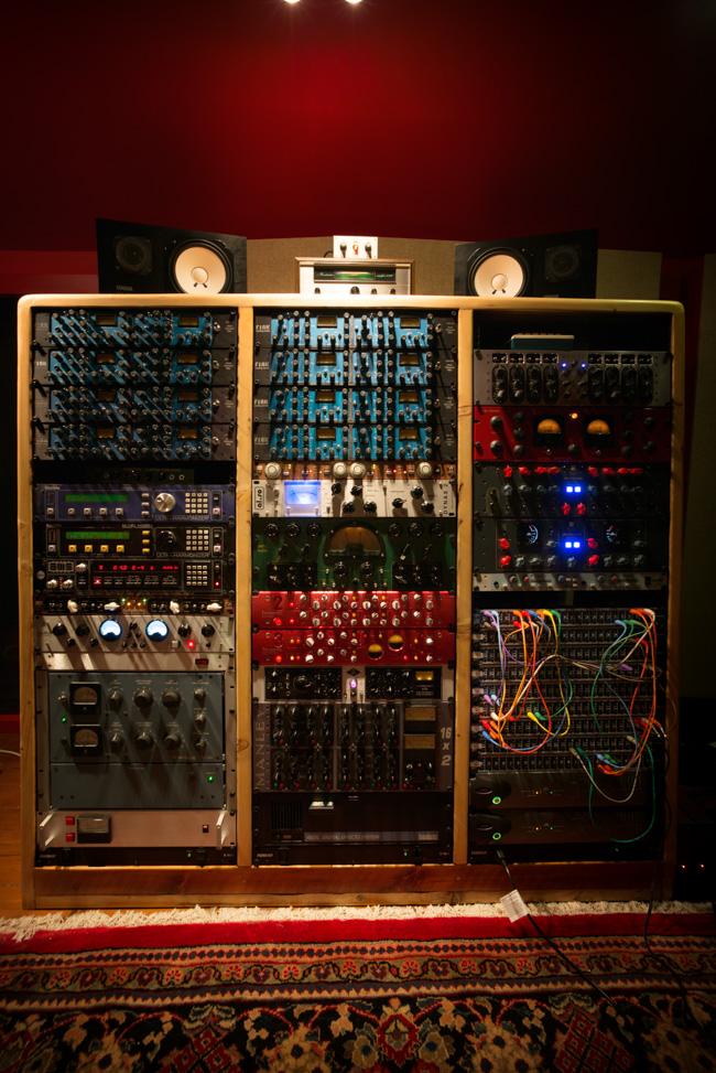 reclaimed wood studio rack