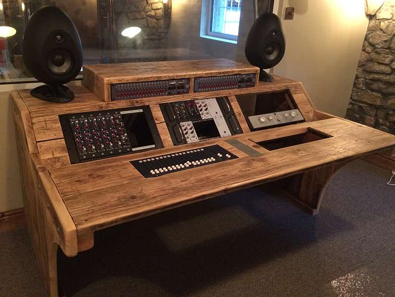 Wooden Studio Furniture ~ Custom desks chunky studio furniture handmade in somerset